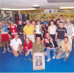 Ефим Гаммер: Боксерская команда Иерусалима перед началом открытого первенства города по боксу имени Сиднея Джексона.